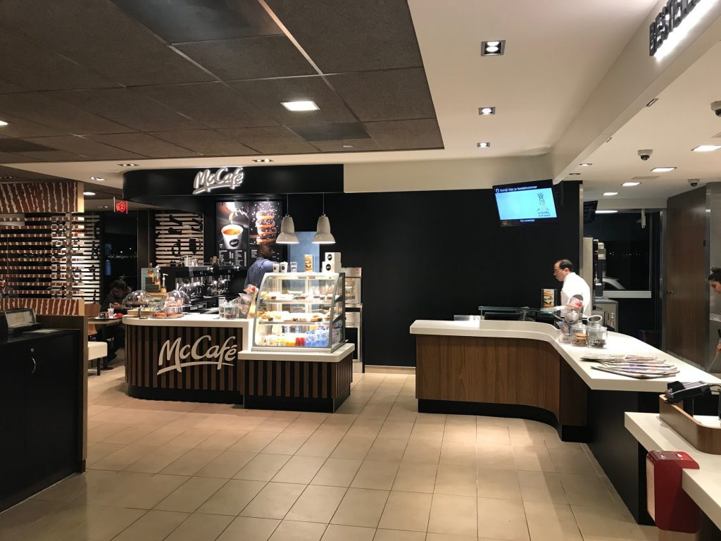 large Mc-Cafe-koffiehoek