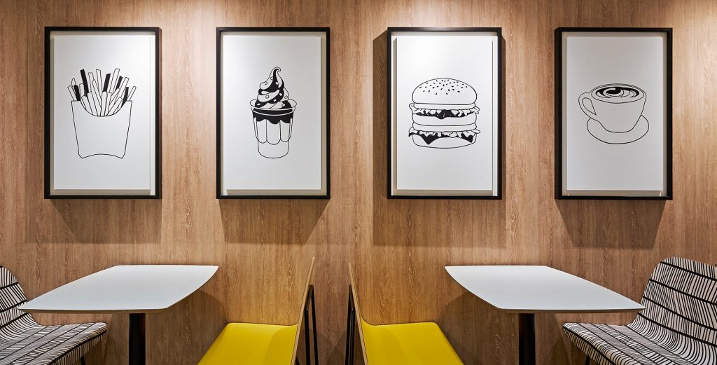 large DESARC-McDonalds logos gerechten